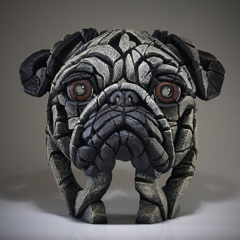 Edge Sculpture Pug Bust