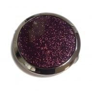 Purple Glitz Compact Mirror