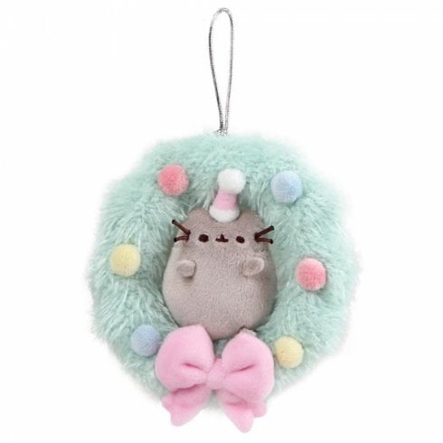 Gund Pusheen 12cm Wreath Mini Plush Hanging Ornament