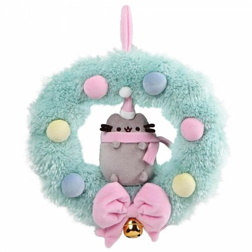 Enesco Pusheen 25cm Wreath Plush Hanging Ornament