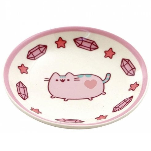 Gund Pusheen Ceramic Purple Trinket Dish