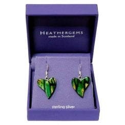 Quirky Heart Drop Earrings