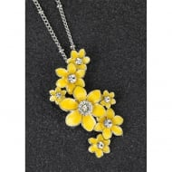 Radiant Daffodil Cluster Necklace