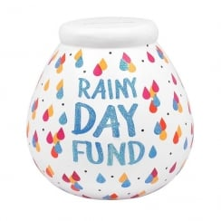 Rainy Day Fund Ceramic Money Pot