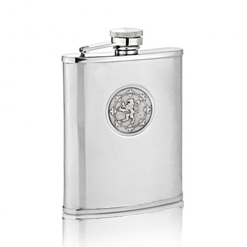 A E Williams Rampant Lion Hip Flask