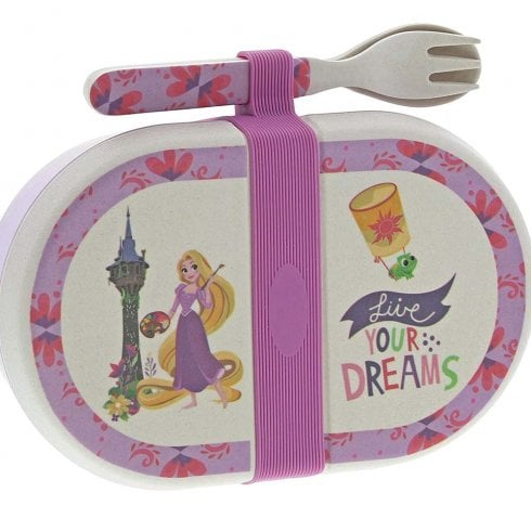 Disney Enchanting Collection Rapunzel - Organic Bamboo Snack Box with Cutlery