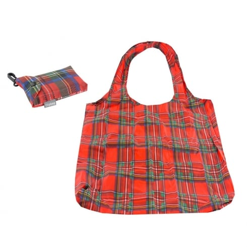 Lesser Pavey Red Tartan Eco Clip Bag