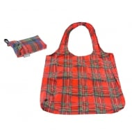 Red Tartan Eco Clip Bag