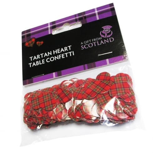 Thistle Products Ltd Red Tartan Table Confetti