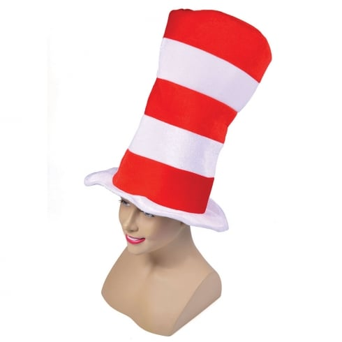 Bristol Novelty Red/White Striped Top Hat