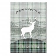 Remembering Fondly Sympathy Stag Card