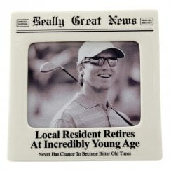 Resident Retires at Young Age 4 x 5 Photo Frame
