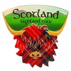 Resin Fridge Magnet Highland Cow