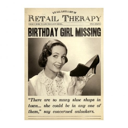 Pigment Retail Therapy Birthday Girl Missing Birthday Card