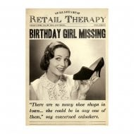 Retail Therapy Birthday Girl Missing Birthday Card