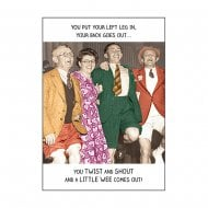 Rib Ticklers Hokey Cokey Humour Birthday Card