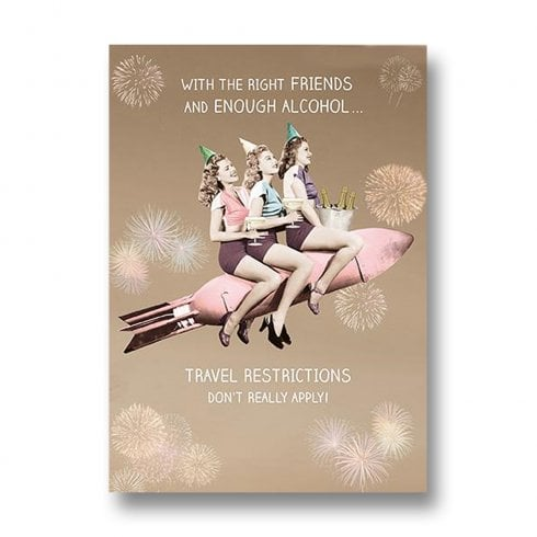 Pigment Rib Ticklers - With the Right Friends Birthday Card RT1033A