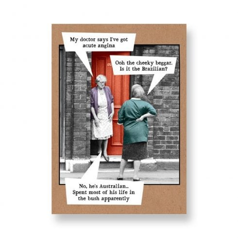 Pigment Riff Raff - Two Ladies on Doorstep Angina - General Card RW128A