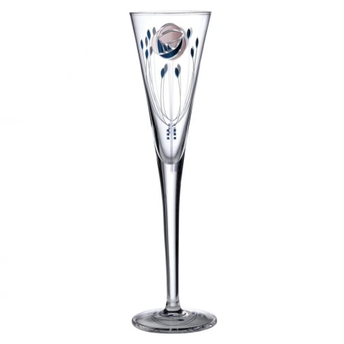 Inspired by Mackintosh Rose Champagne Flute