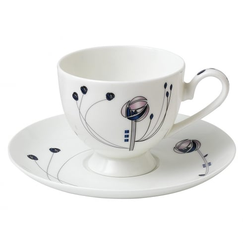 Inspired by Mackintosh Rose Cup & Saucer