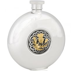 Round Hip Flask With 4975 Front