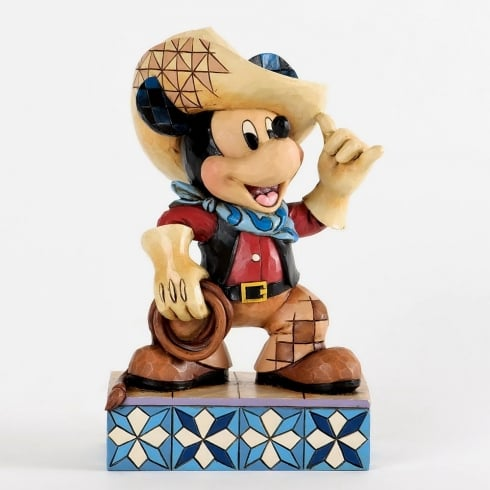Disney Traditions Roundup Cowboy Mickey Mouse Figurine