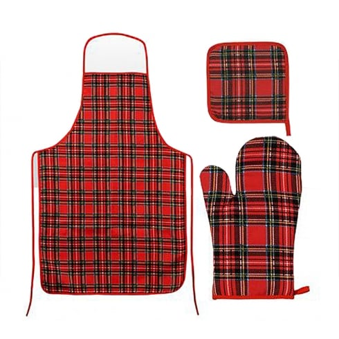 Elgate Royal Stewart Oven Mitt Pot Holder & Apron Set