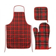 Royal Stewart Oven Mitt Pot Holder & Apron Set