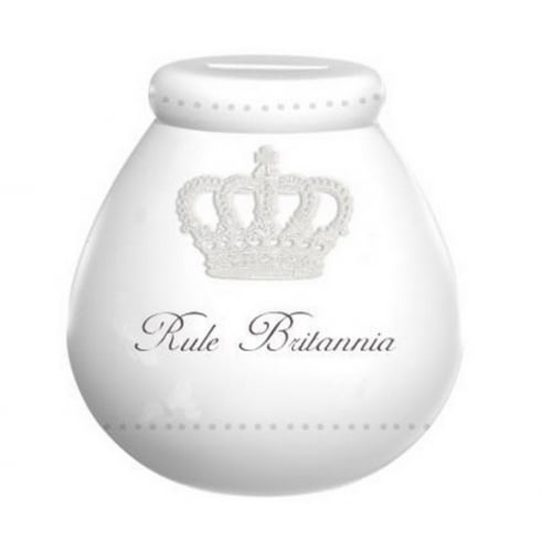 Pot of Dreams Rule Brittania Ceramic Money Pot