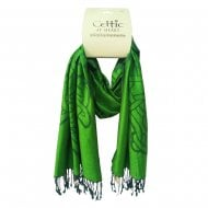 Running Celtic Knot Green Scarf