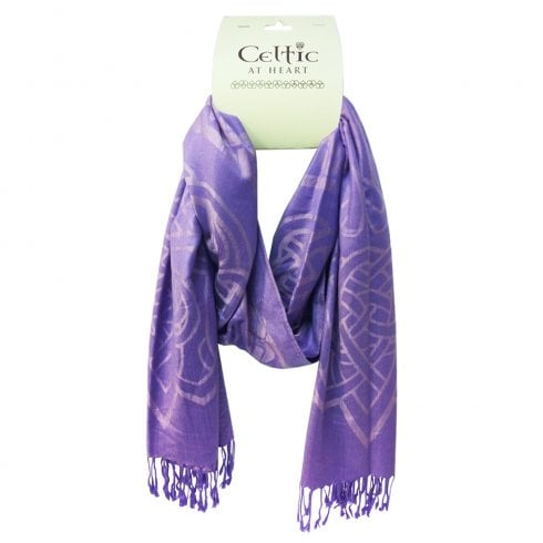 Eurostick Running Celtic Knot Purple Scarf