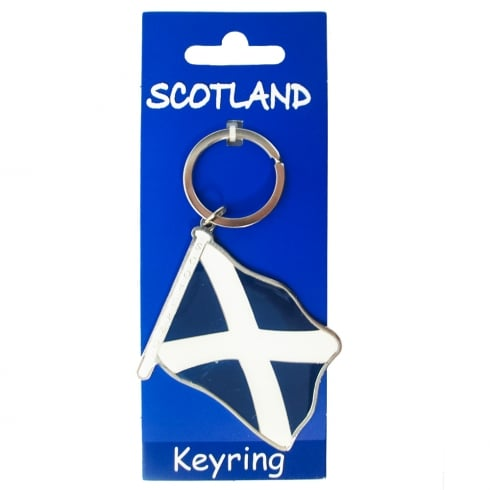 Heather Gift Co. Saltire Flag Keyring