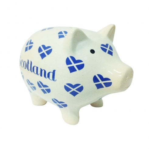 Thistle Products Ltd Saltire Heart Piggy Bank