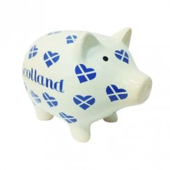 Saltire Heart Piggy Bank