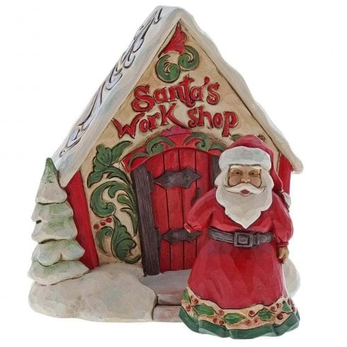 Jim Shore Heartwood Creek Santa and Toy Shop Gift Set