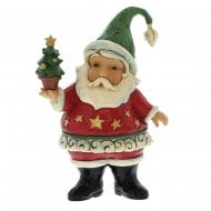 Santa Claus With Tree Mini Figurine