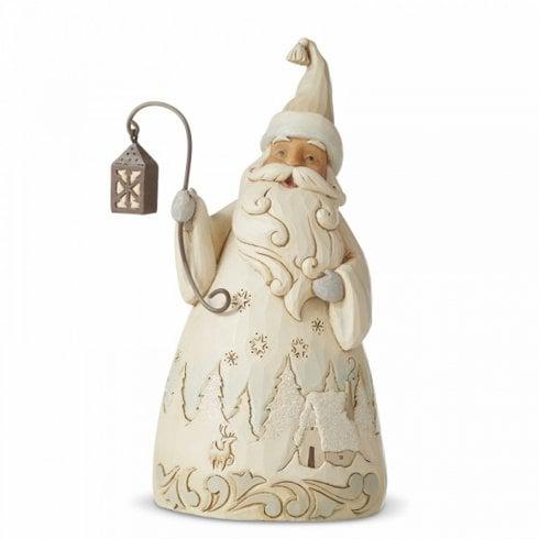 "Jim Shore Heartwood Creek Santa With Lantern - ""Laughter Makes The Season Bright"""