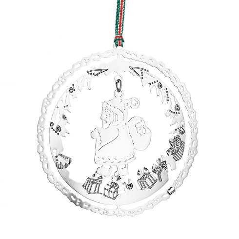 Newbridge Silverware Santa With Presents Hanging Decoration