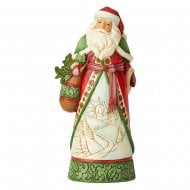 Santa With Winter Scene Figurine