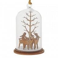 Santas Reindeers Christmas Hanging Ornament A30269
