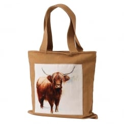 Sarah Stokes Highland Cow Canvas Bag
