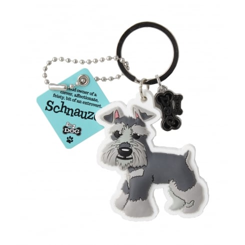Wags & Whiskers Schnauzer Keyring