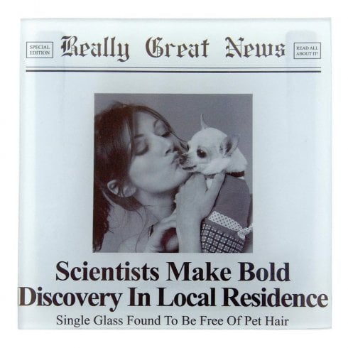 Really Great News Scientists Make Bold Discovery Photo Frame Coaster