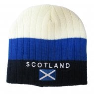 Scotland Beanie Hat Blue And Cream