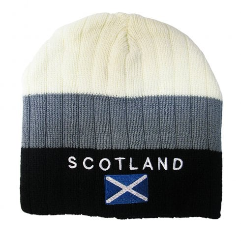 Scotland Beanie Hat Grey And Cream