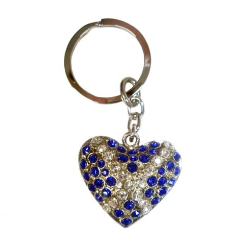 Shudehill Giftware Scotland Flag Diamante Heart Keyring