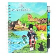 Scotland Notebook And Pen Piper