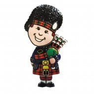 Scotland Piper Springy Printed Resin Magnet
