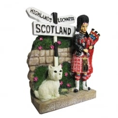 Scotland Piper & Westie Figurine