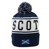 Scotland Pom Pom Ski Hat Navy